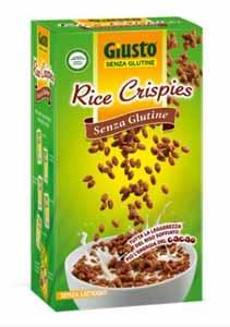 GIUSTO SENZA GLUTINE - RICE CRISPIES CON CACAO - 250 G