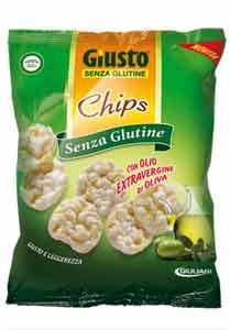 GIUSTO SENZA GLUTINE CHIPS CON OLIO EXTRAVERGINE DI OLIVA 30 G