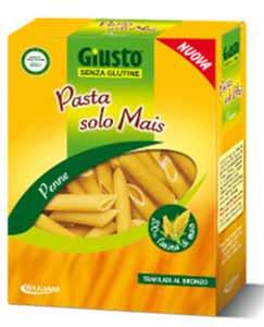 GIUSTO SENZA GLUTINE PASTA SOLO MAIS - PENNE - 500 G