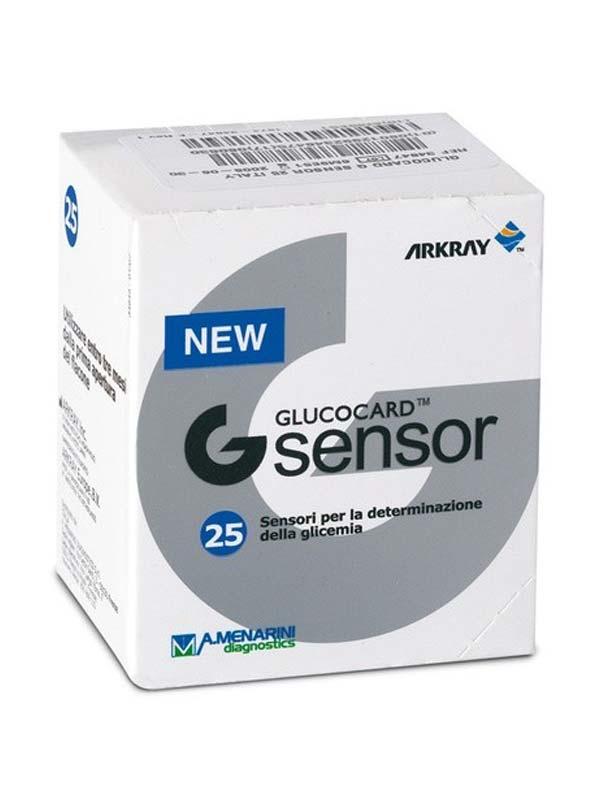 GLUCOCARD G SENSOR 25 STRISCE REATTIVE