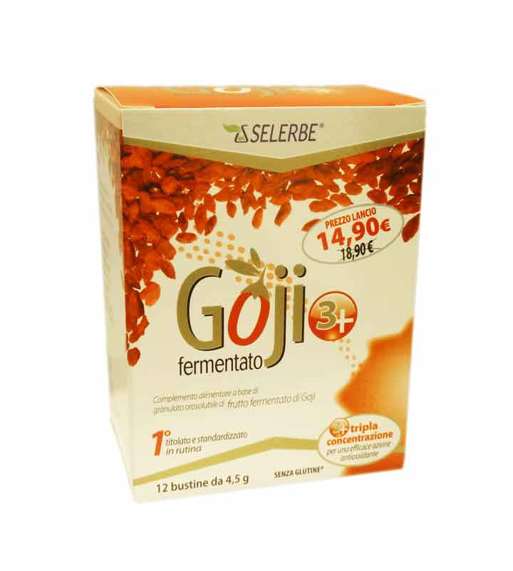 GOJI 3+ FERMENTATO INTEGRATORE ALIMENTARE ANTIOSSIDANTE - 12 BUSTINE DA 4,5 G