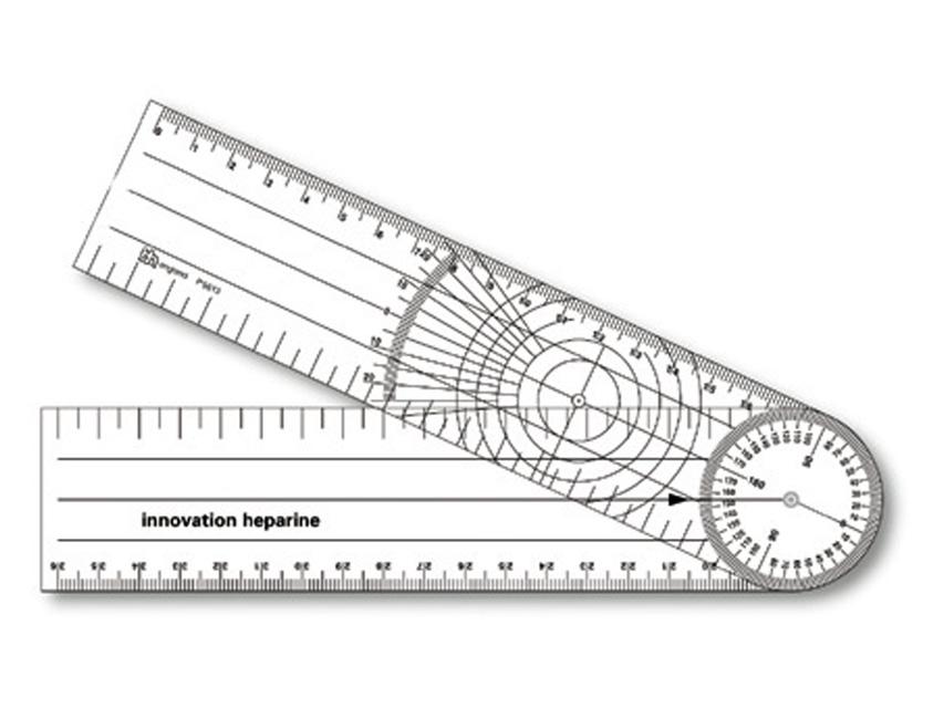 GONIOMETRO 205 x 45 mm