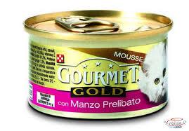 GOURMET GOLD MOUSSE PER GATTI GUSTO MANZO GR.85 - 24 CONFEZIONI