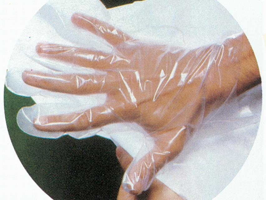 GUANTI IN COPOLIMERI SU CARTA - sterili