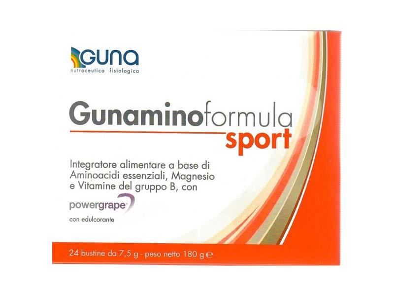 GUNAMINO FORMULA SPORT INTEGRATORE GUNA 24 BUSTINE DA 7,5 G