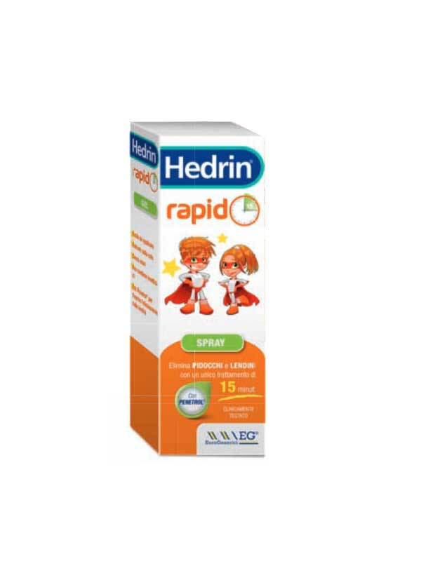 HEDRIN RAPID GEL SPRAY CONTRO PIDOCCHI E LENDINI - 60 ML