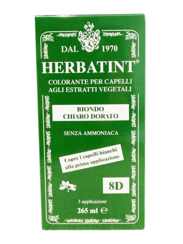 HERBATINT TINTA PER CAPELLI 8D BIONDO CHIARO DORATO 265 ML