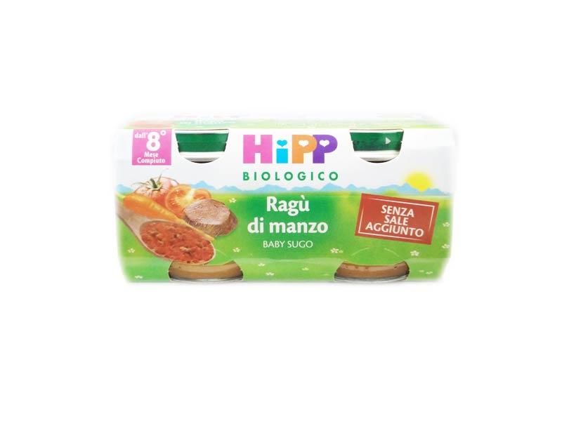 HIPP BABY SUGO RAGU' DI MANZO OMOGENEIZZATO - DALL'OTTAVO MESE - 2 x 80 G