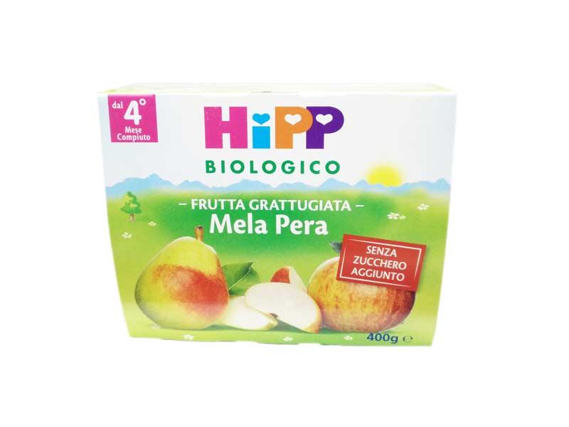 HIPP MERENDA DI FRUTTA GRATTUGIATA MELA E PERA - DAL QUARTO MESE - 4 x 100 G