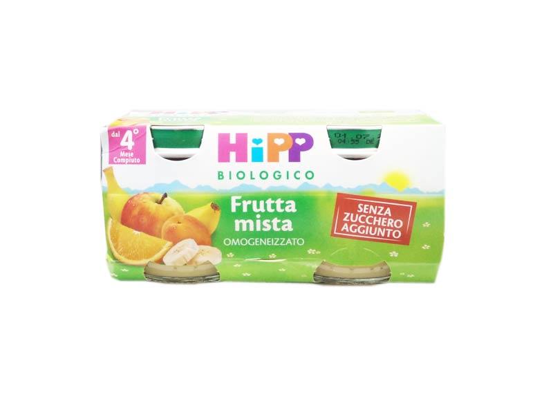 HIPP OMOGENEIZZATI FRUTTA MISTA - DAL QUARTO MESE - 2 x 80 G