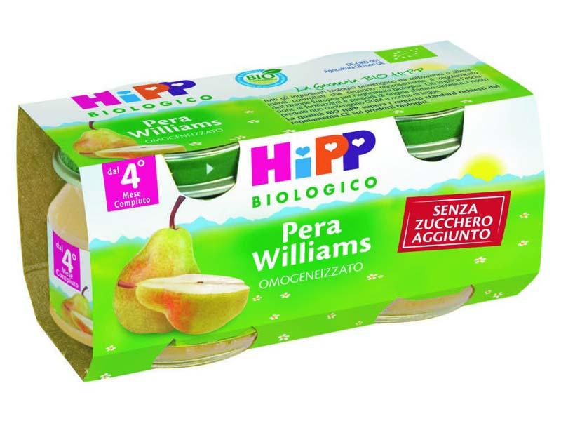 HIPP OMOGENEIZZATI PERA WILLIAMS DAL QUARTO MESE 2x80 G