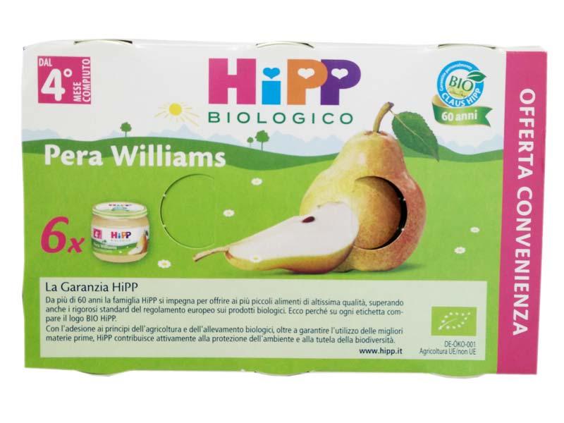 HIPP OMOGENEIZZATI PERA WILLIAMS DAL QUARTO MESE 6x80 G
