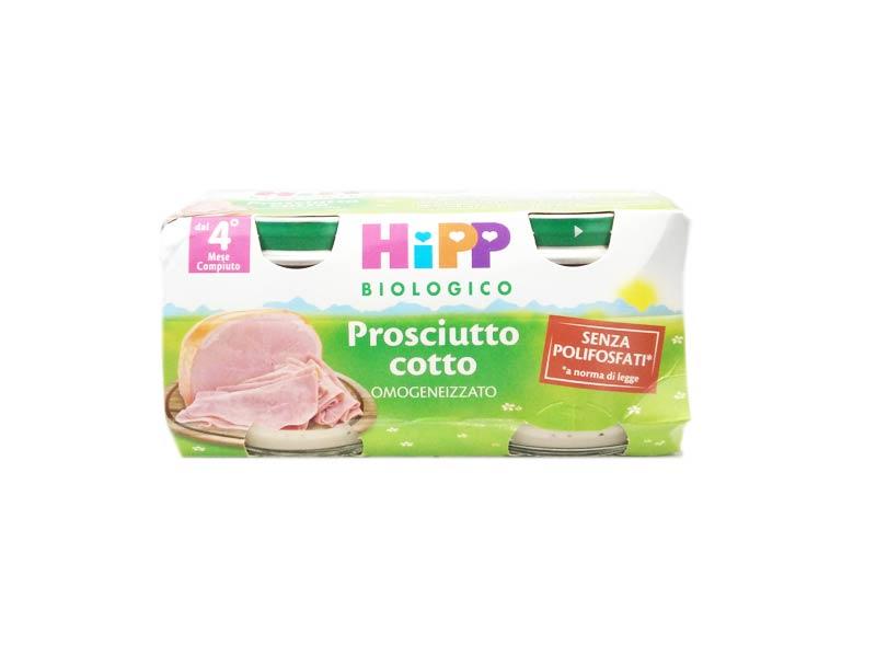 HIPP OMOGENEIZZATI PROSCIUTTO COTTO - DAL QUARTO MESE - 2 x 80 G