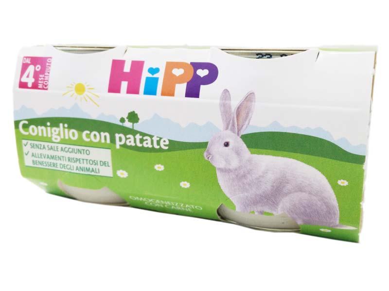 HIPP OMOGENEIZZATO CONIGLIO CON PATATE DAL QUARTO MESE 2x80 G
