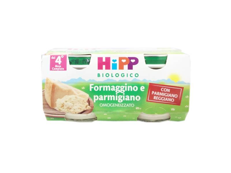 HIPP OMOGENEIZZATO FORMAGGINO E PARMIGIANO - DAL QUARTO MESE - 2 x 80 G