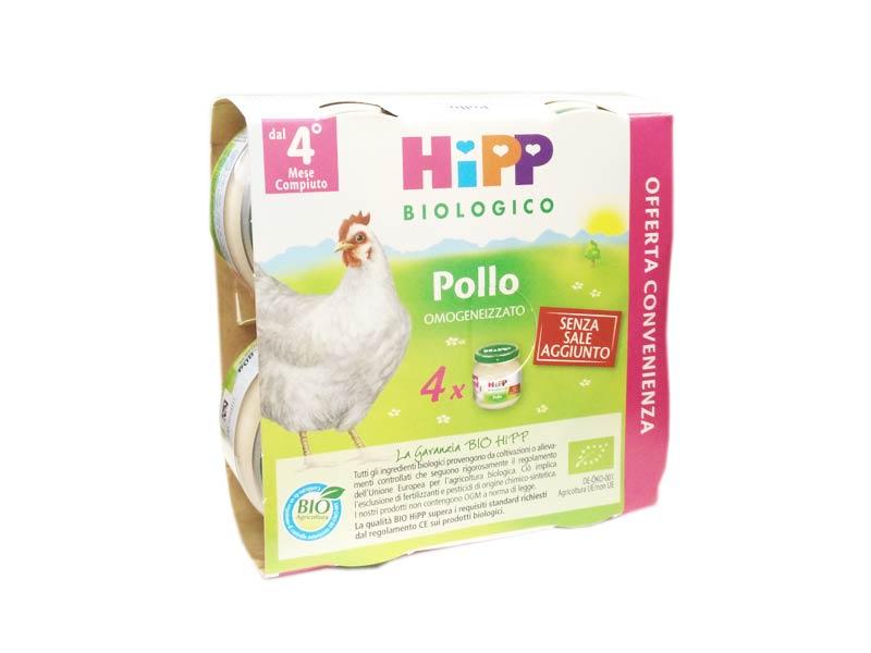 HIPP OMOGENEIZZATO POLLO - DAL QUARTO MESE - 4 X 80 G