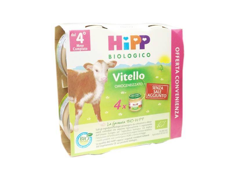 HIPP OMOGENEIZZATO VITELLO - DAL QUARTO MESE - 4 X 80 G