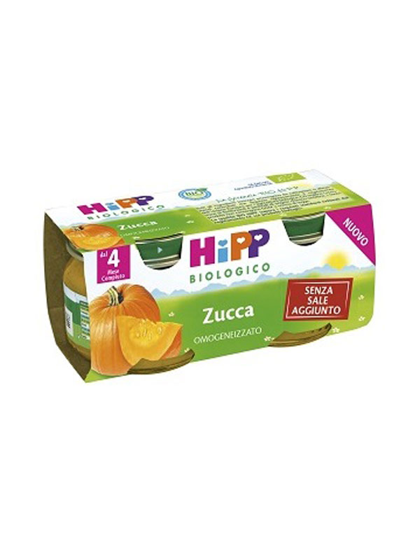 HIPP OMOGENEIZZATO ZUCCA 2 PEZZI 80 G