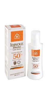 IDISOLE BIMBO LATTE SPRAY PROTEZIONE MOLTO ALTA SPF50+ - 200 ML