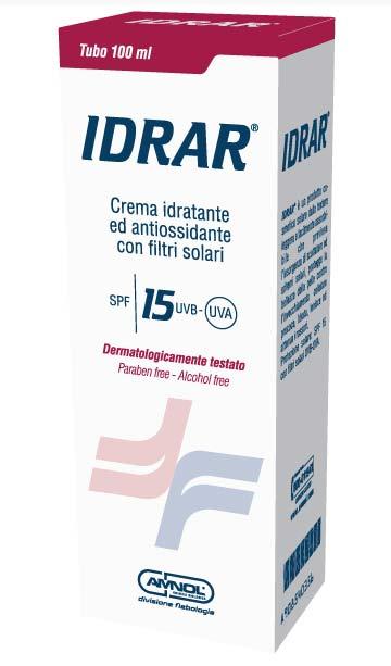 IDRAR CREMA SOLARE CONTRO SCOTTATURE ED ERITEMI SPF 15 - 100 ML