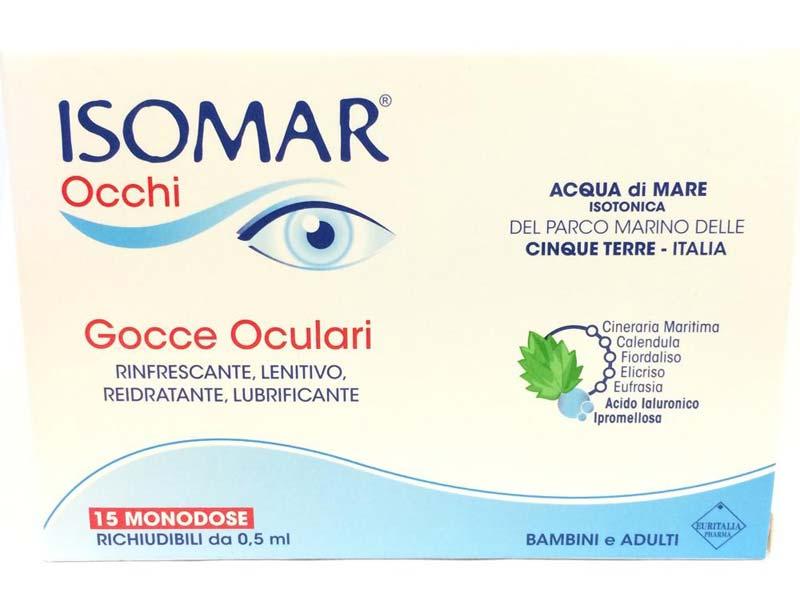 ISOMAR OCCHI GOCCE OCULARI 15 FLACONCINI MONODOSE DA 0,5 ML