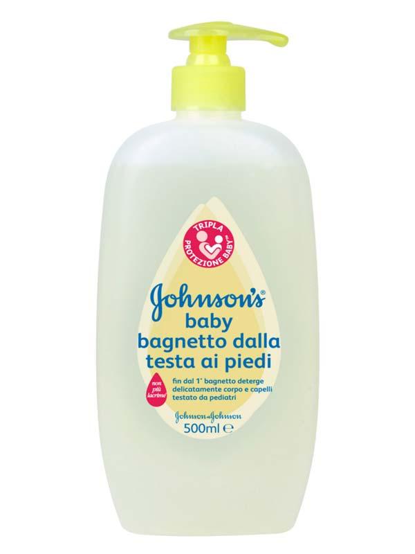 JOHNSON'S BABY BAGNETTO DALLA TESTA AI PIEDI 500 ML