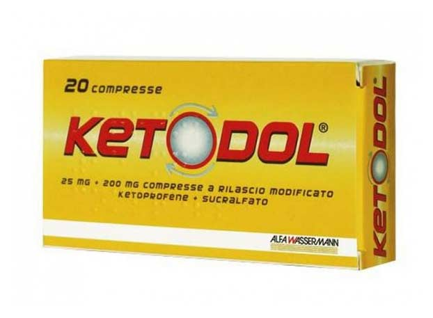 KETODOL 25 MG + 200 MG 20 COMPRESSE