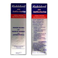 KUKIDENT CON ANTIBATTERICO COMPLETE - CREMA ADESIVA PER PROTESI DENTALI - 47 G