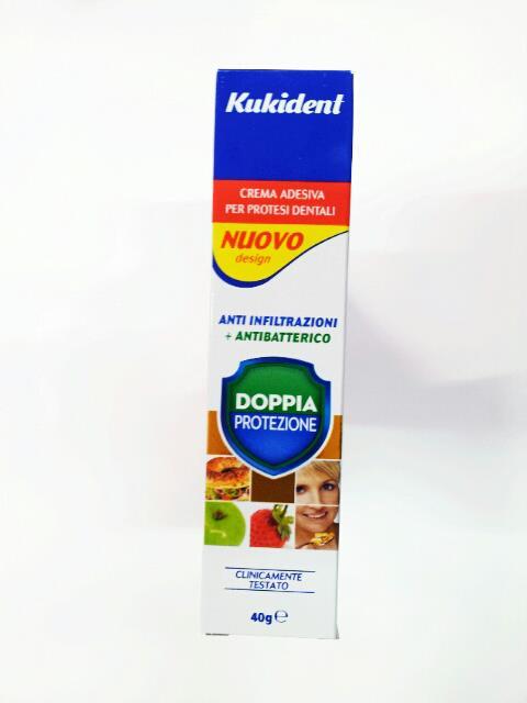 KUKIDENT DOPPIA PROTEZIONE CREMA ADESIVA 40 G