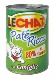 LECHAT PATE RICCO PER GATTI CON CONIGLIO GR.400 - 24 CONFEZIONI