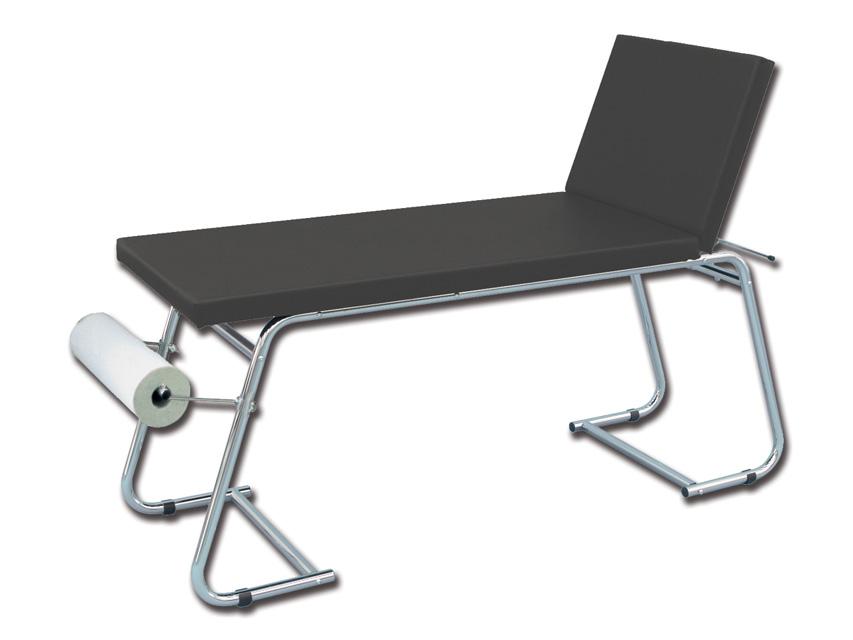 LETTINO VISITA MEDICA - acciaio cromato - nero