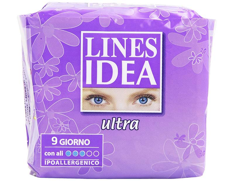 LINES IDEA ULTRA GIORNO CON ALI 9 ASSORBENTI