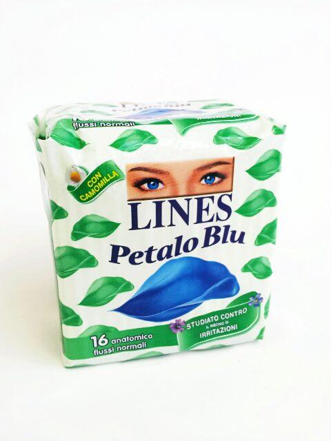 LINES PETALO BLU ANATOMICO - 16 ASSORBENTI