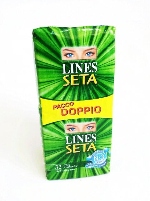 LINES SETA ULTRA ANATOMICO - PACCO DOPPIO - 32 ASSORBENTI