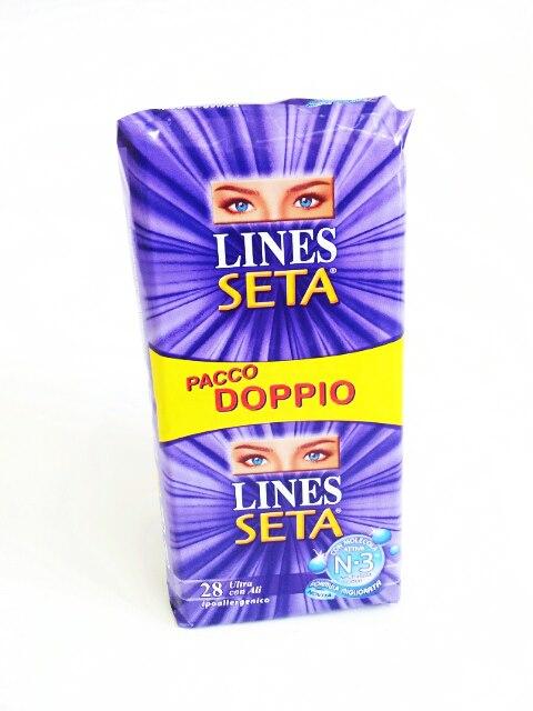 LINES SETA ULTRA CON ALI - PACCO DOPPIO - 28 ASSORBENTI