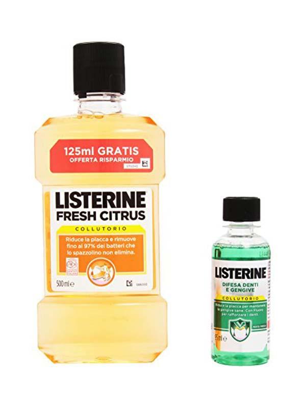 LISTERINE FRESH CITRUS 500 ML + 95 ML GRATIS