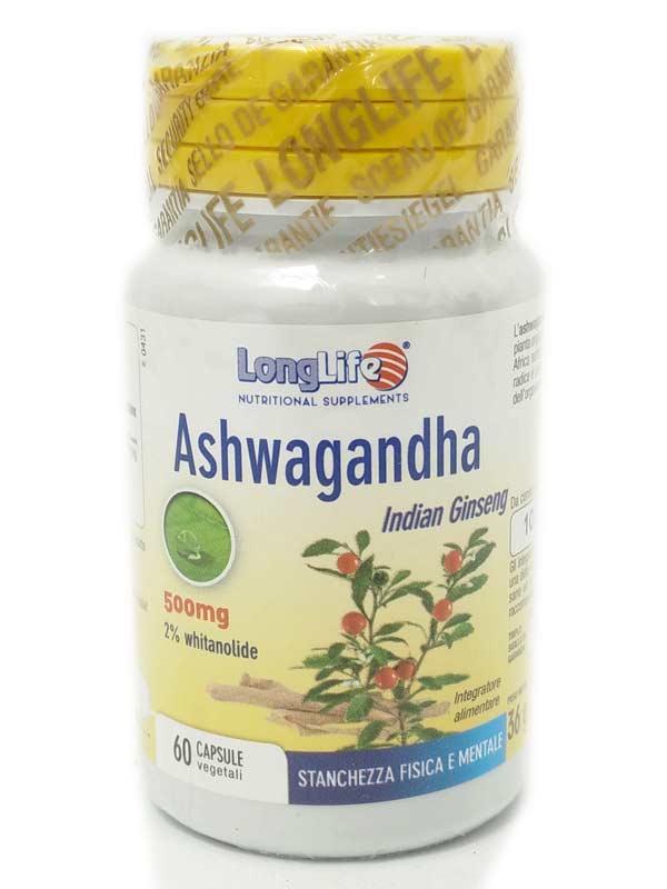 LONGLIFE ASHWAGANDHA GINSENG INDIANO 60 CAPSULE