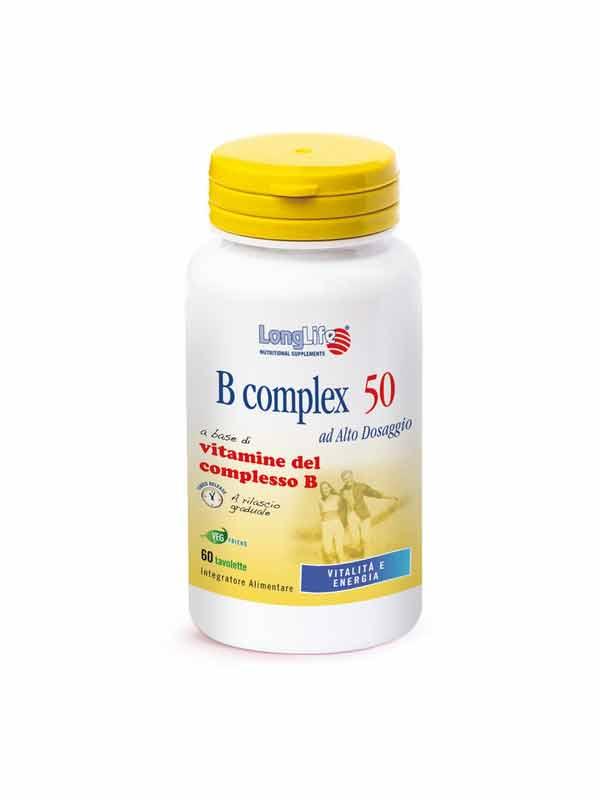 LONGLIFE B COMPLEX 50 INTEGRATORE UTILE PER LE DIFESE IMMUNITARIE - 60 TAVOLETTE