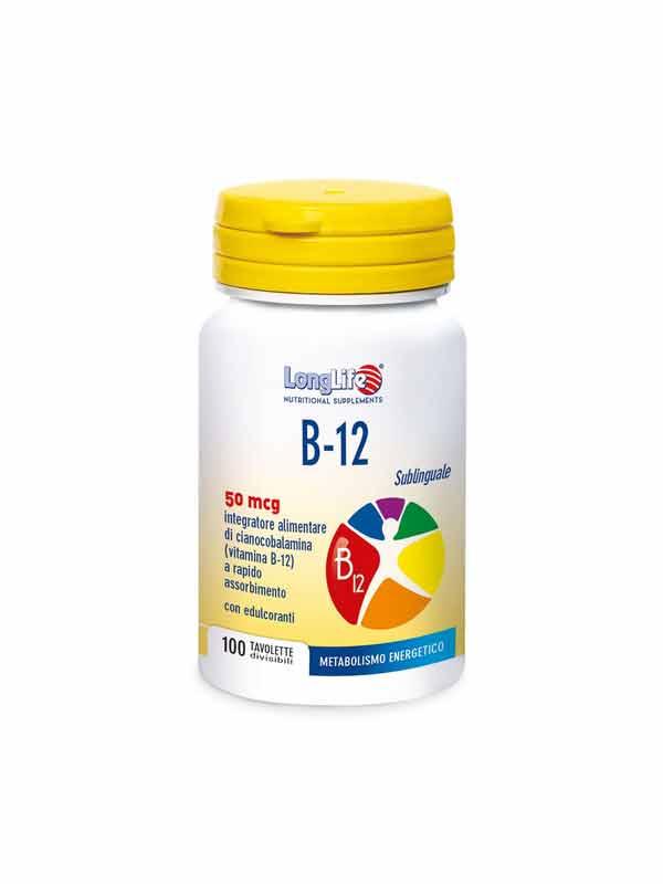 LONGLIFE B-12 INTEGRATORE ENERGETICO DI VITAMINA B12 - 100 COMPRESSE