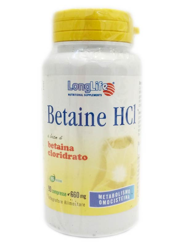 LONGLIFE BETAINE HCL 90 COMPRESSE