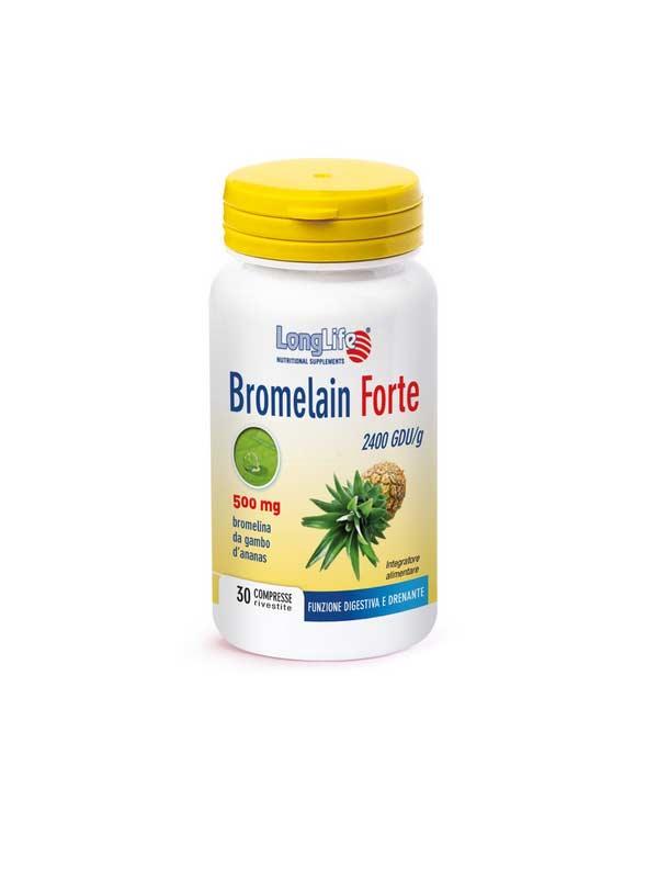 LONGLIFE BROMELAIN FORTE INTEGRATORE DI BROMELINA - 30 COMPRESSE