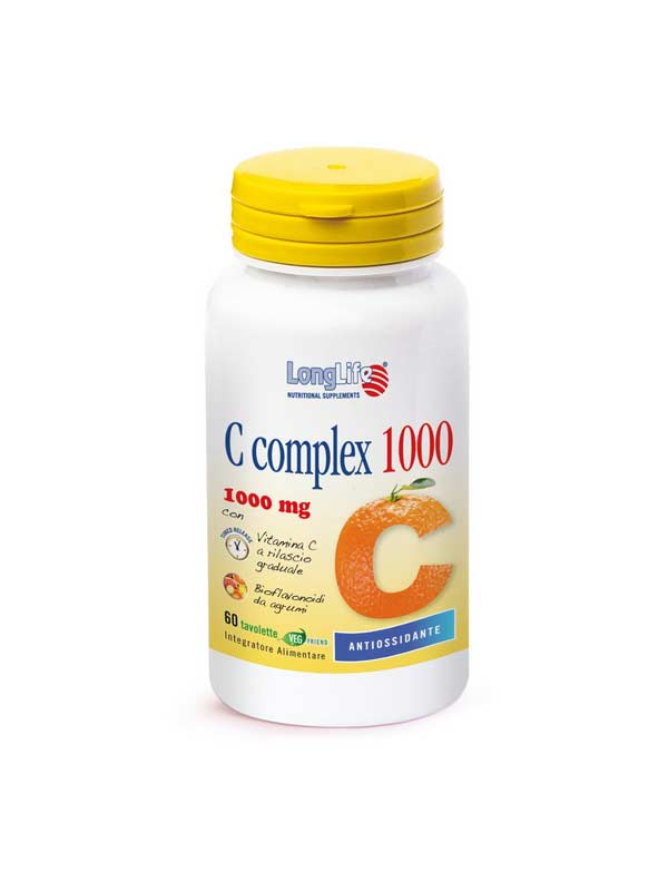 LONGLIFE C COMPLEX 1000 INTEGRATORE DI VITAMINA C - 60 TAVOLETTE