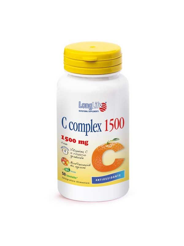 LONGLIFE C COMPLEX 1500 INTEGRATORE DI VITAMINA C - 50 TAVOLETTE