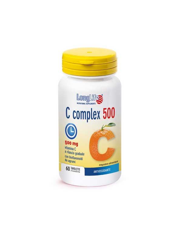 LONGLIFE C COMPLEX 500 INTEGRATORE DI VITAMINA C - 60 TAVOLETTE