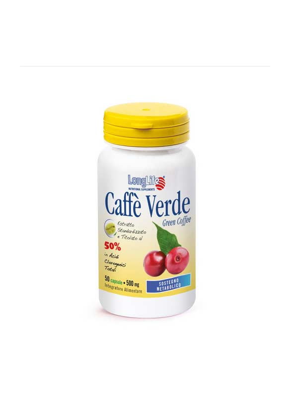 LONGLIFE CAFFE' VERDE INTEGRATORE UTILE PER IL CONTROLLO DEL PESO - 50 CAPSULE