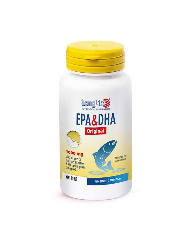 LONGLIFE EPA E DHA INTEGRATORE DI ACIDI GRASSI POLINSATURI - 60 PERLE