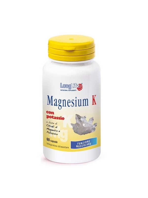 LONGLIFE MAGNESIUM K INTEGRATORE DI MAGNESIO E POTASSIO - 60 CAPSULE