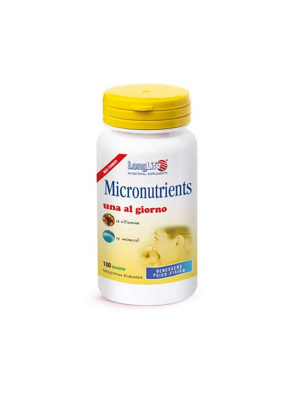 LONGLIFE MICRONUTRIENTS INTEGRATORE MULTIVITAMINICO MULTIMINERALE - 100 TAVOLETTE
