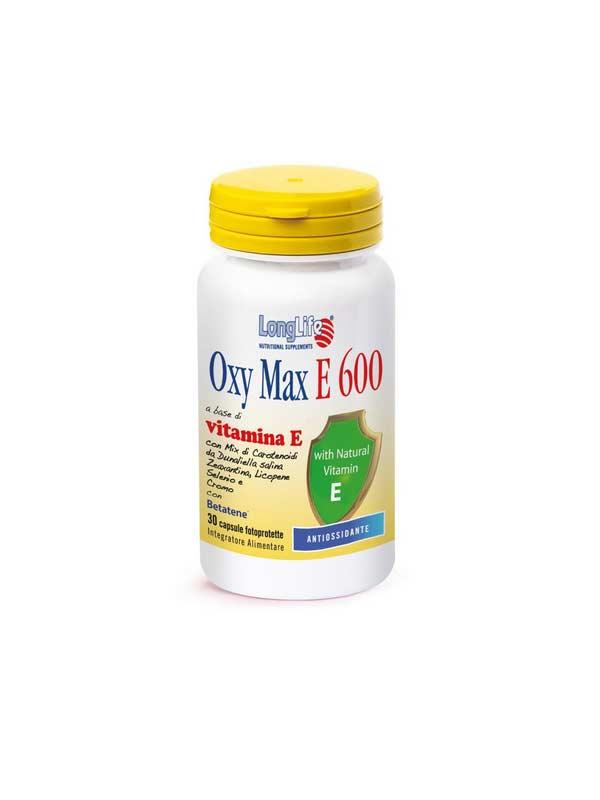 LONGLIFE OXY MAX E 600 INTEGRATORE PER CONTRASTARE I RADICALI LIBERI - 30 CAPSULE