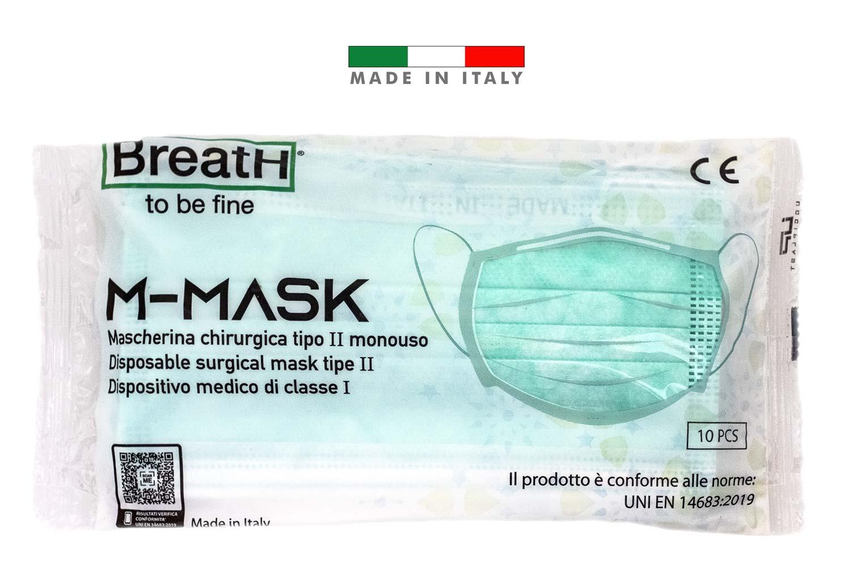 Mascherine chirurgiche certificate CE tipo 2 - confezione 10 pezzi